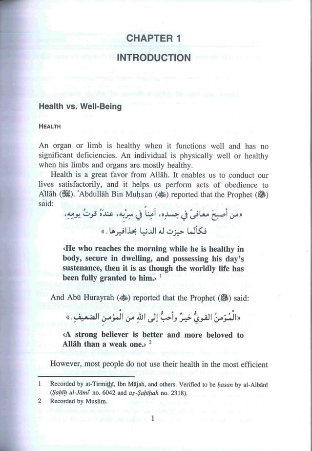 Sickness, Regulations & Exhortations