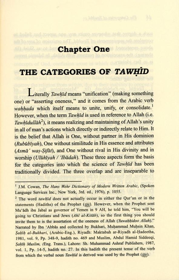 The Fundamentals of Tawheed : Islamic Monotheism, IIPH, Hardback