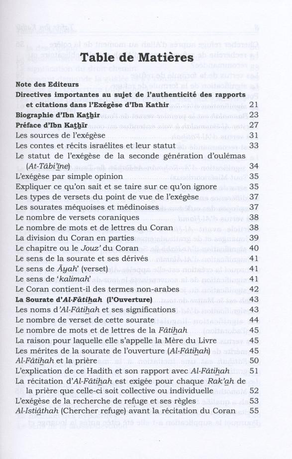 Tafsir Ibn Kathir Volume 1( French)