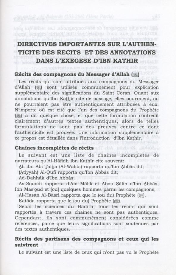 Tafsir Ibn Kathir Volume 2( French)