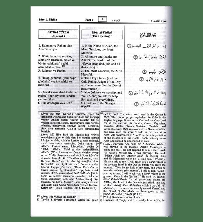 Al Quran Al Kareem Turkish Language Darussalam