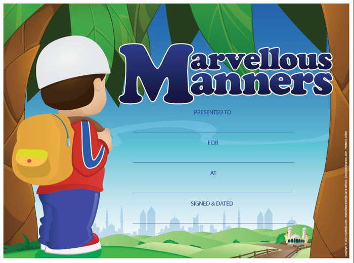 Marvellous Manners (25 Pack - A4 Size)