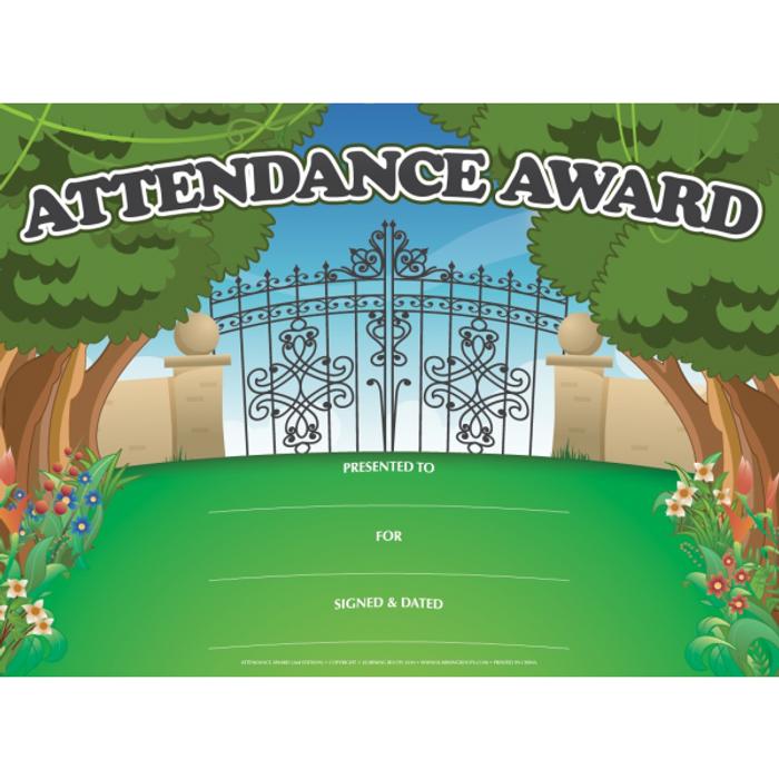 Attendance Award (25 Pack - A4 Size)
