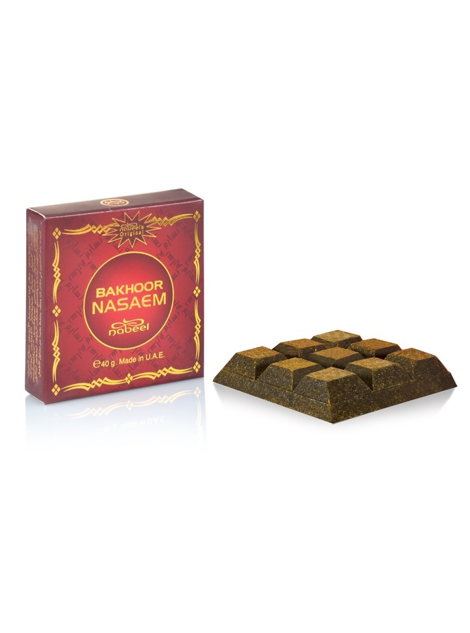 Bakhoor Nasaem Fragrance 40 grams bar | Burn on coal Bakhoor Burner | Each Bar