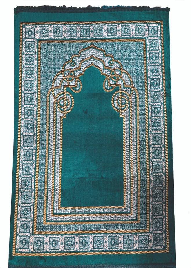 Prayer Rug Luxury Padded with Turkish cutwork design