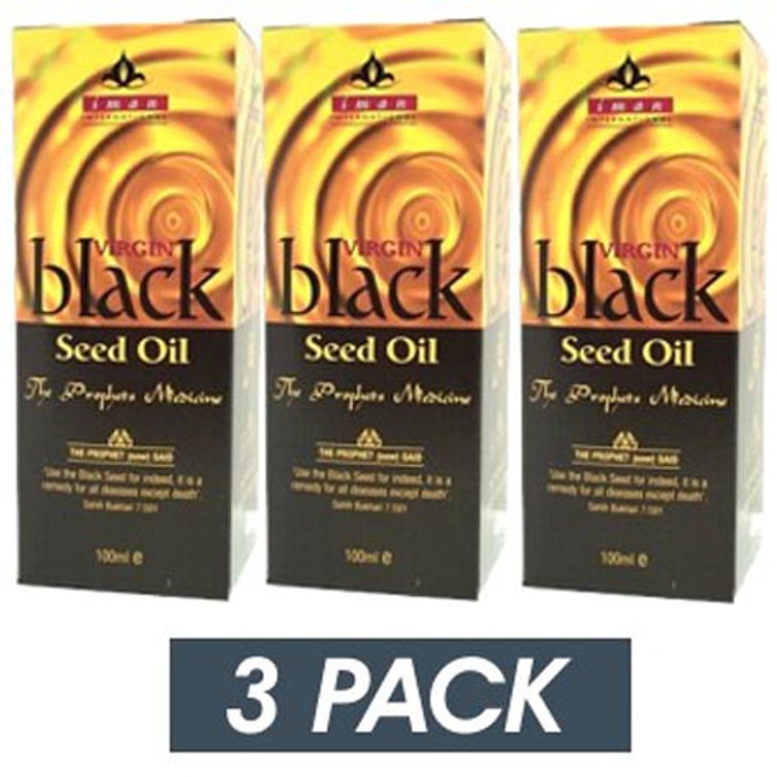 Iman Virgin Black Seed Oil  (Virgin Nigella Sativa Oil)   3 Pack x 100ml