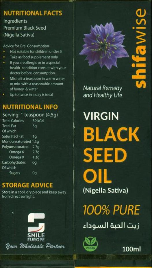 Virgin Blackseed Oil Nigella sativa by Shifawise 100ml