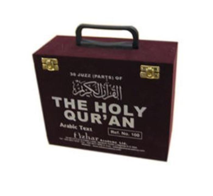 30 parts set of The Holy Quran in Velvet coated box (Persian/Urdu script)