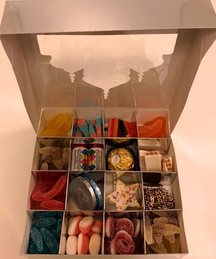 Ramadhan Mubarak Silver Sweets Box Pick and Mix 16 Selection of Halal Sweet Zone Jelly / Gifts / Eid / Food