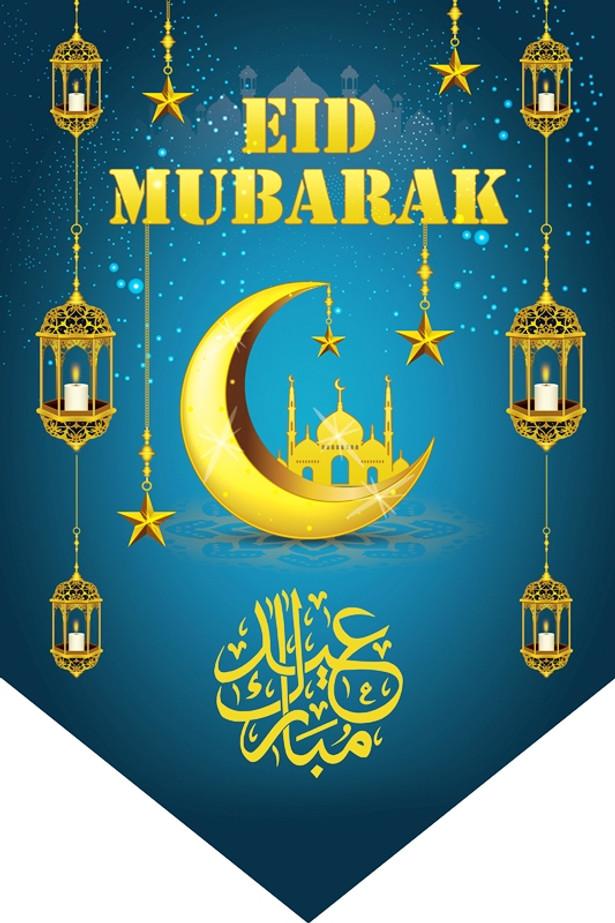 Eid Mubarak Flags – turquoise / Decoration / Ramadhan / Ramadan / Happy Eid / Flags / Bunting