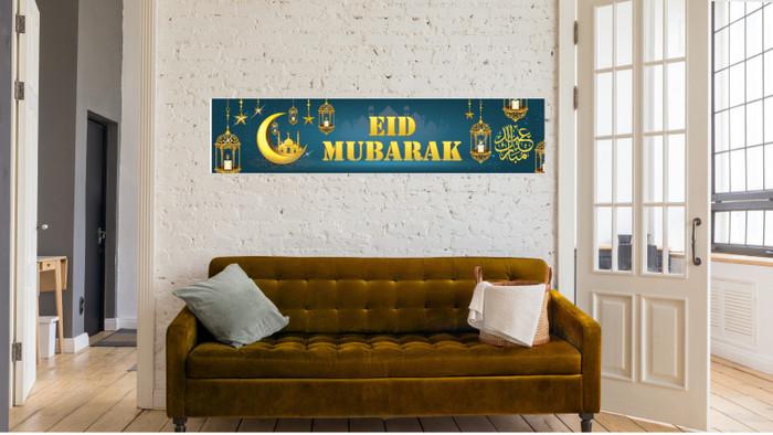 Eid Mubarak Banner– turquoise / Decoration / Ramadhan / Ramadan / Happy Eid / Flags / Bunting