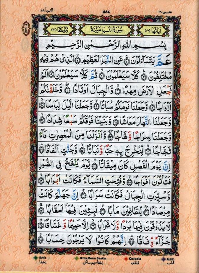 Tajweed Quran Arabic Only (Persian/Urdu script)15 Lines