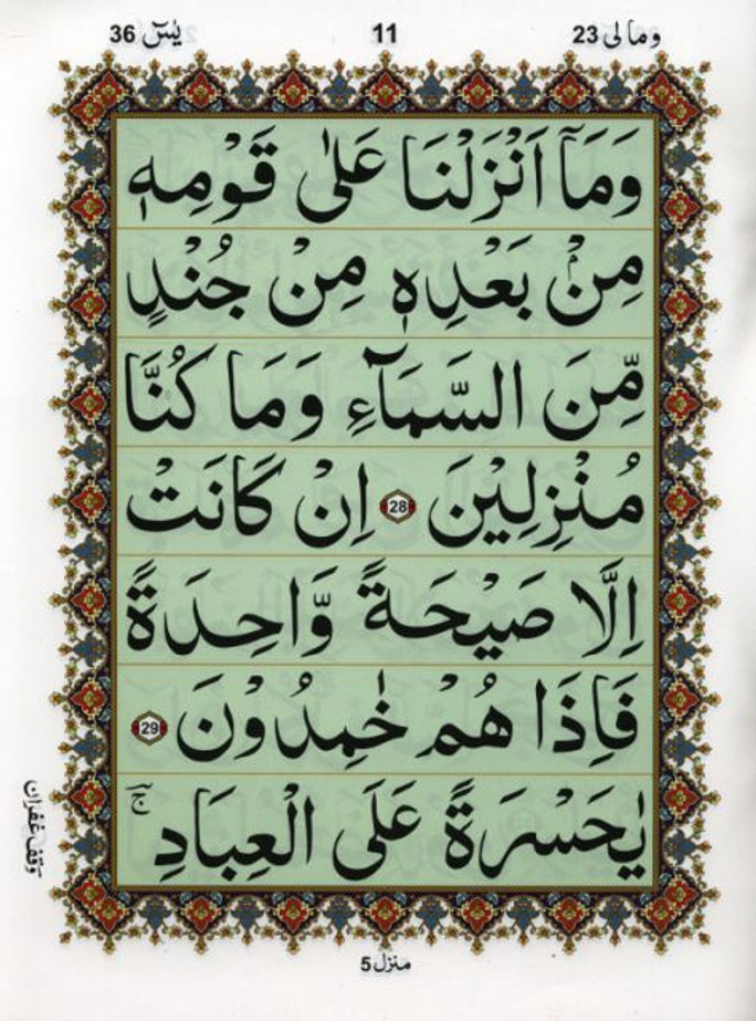 Surah Yaseen Without Translation