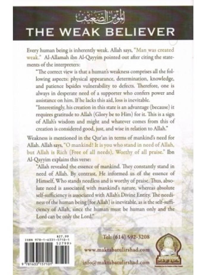 The Weak Believer by Maktaba tul-Irshad