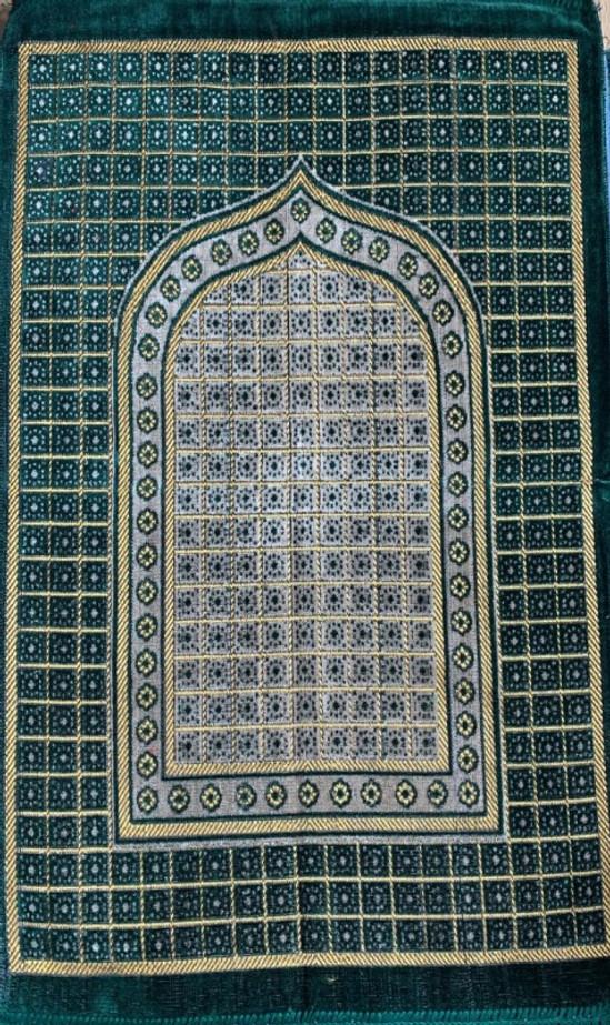 Cut Work Pray Mat:Golden Green