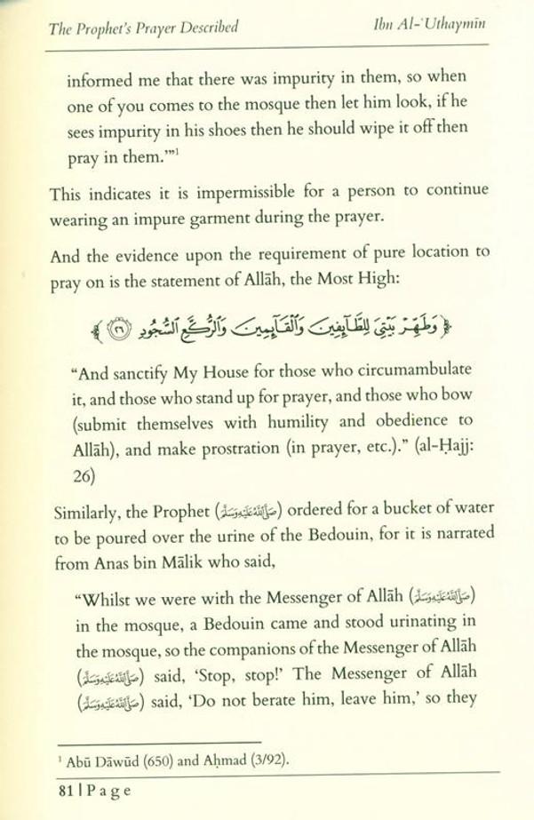 The Prophet's Prayer Described