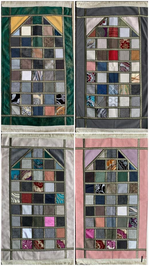 Prayer Rug Luxury with Turkish Patchwork Design (23765)
