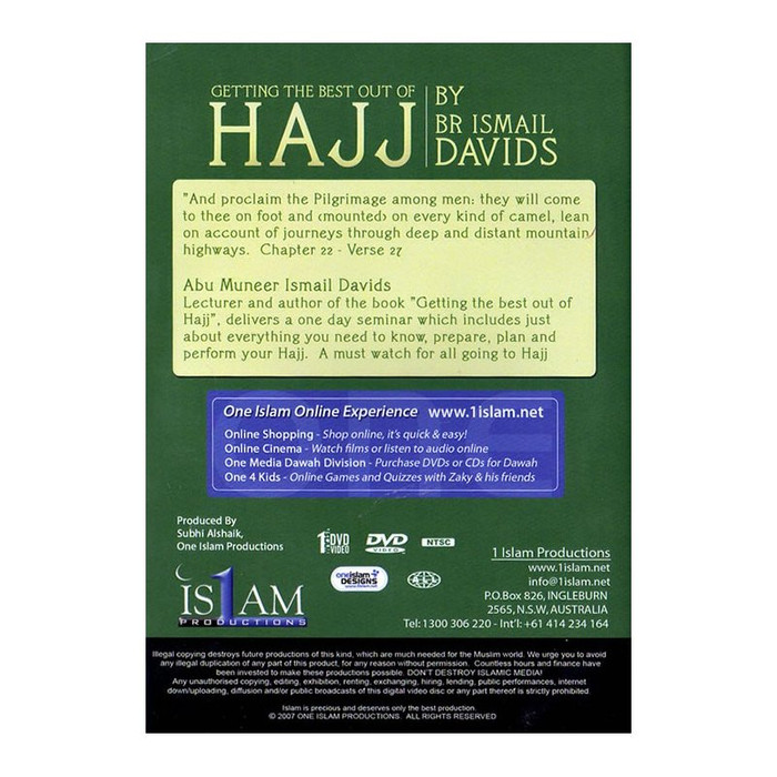 Getting The Best Out Of Hajj – DVD