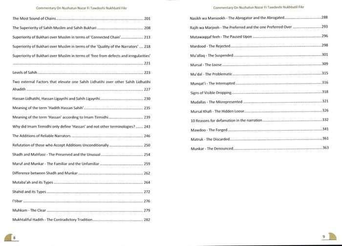 A Commentary On Nuzhatun Nazar Fi Tawdeehi Nukhbatil Fikr (2 volume Set)
