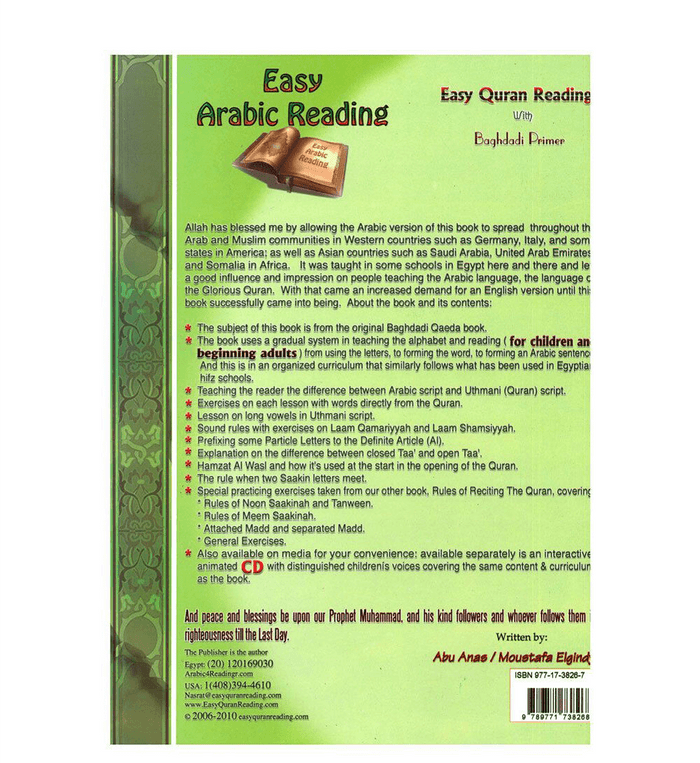 Easy Quran Reading with Baghdadi Primer (Arabic/English)