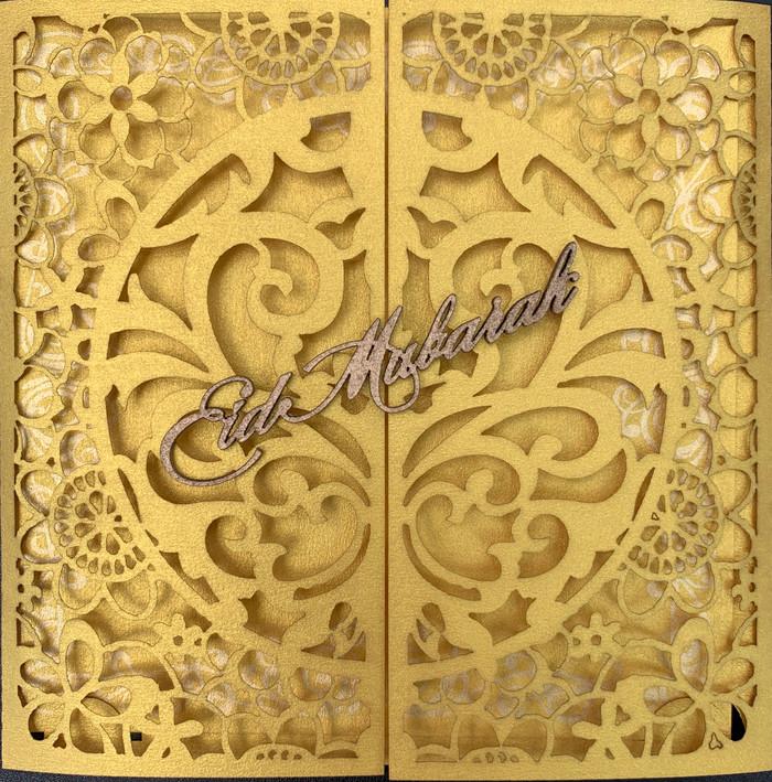 Eid Mubarak Laser Cut Greeting Cards Muslim Islamic Festival 3