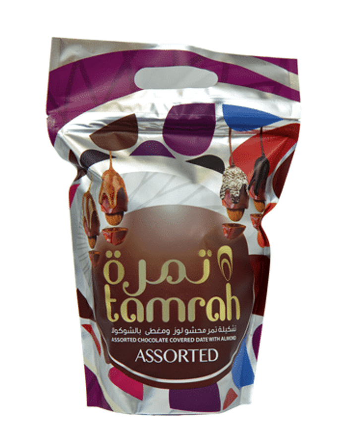 TAMRAH ASSORTED COCOLATE DATES WITH ALMONDS  600G  LARGE BAG