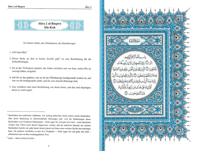The Noble Quran In German (Deutsch Sprache), 9786038187180