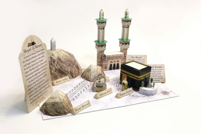 DIY Paper Craft kits : The Story Of Makkah Masjid Al Haram Paper Craft Kit