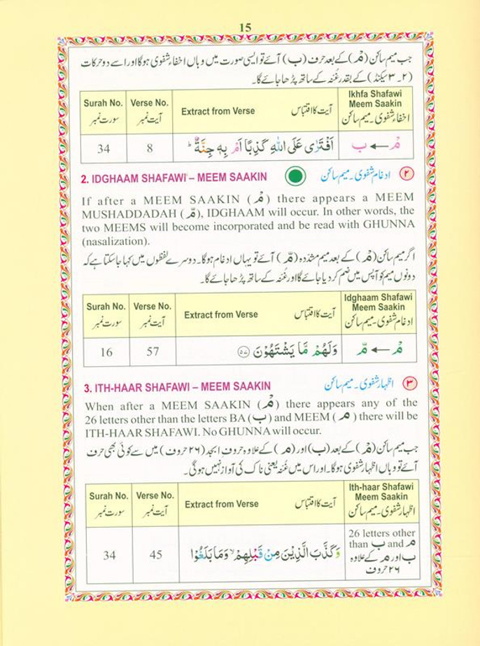 The Holy Quran Colour coded Tajweed Rules (19x24), 9789351690955