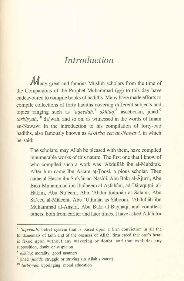 Forty Hadiths on Good Moral Values