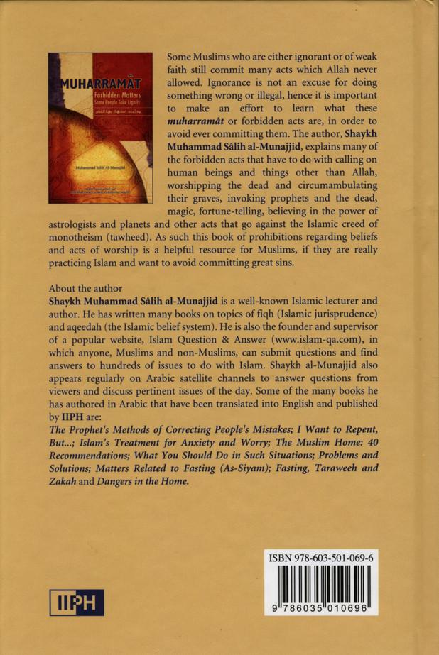 Muharramat Forbidden Matters Some People Take Lightly