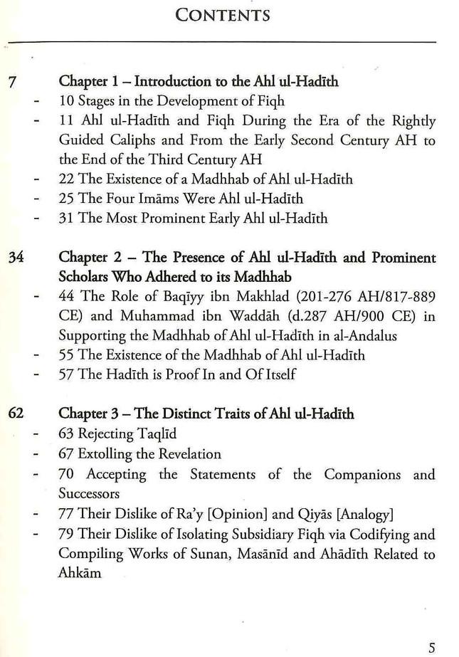 The Fiqh Madhhab of Ahl ul-Hadith
