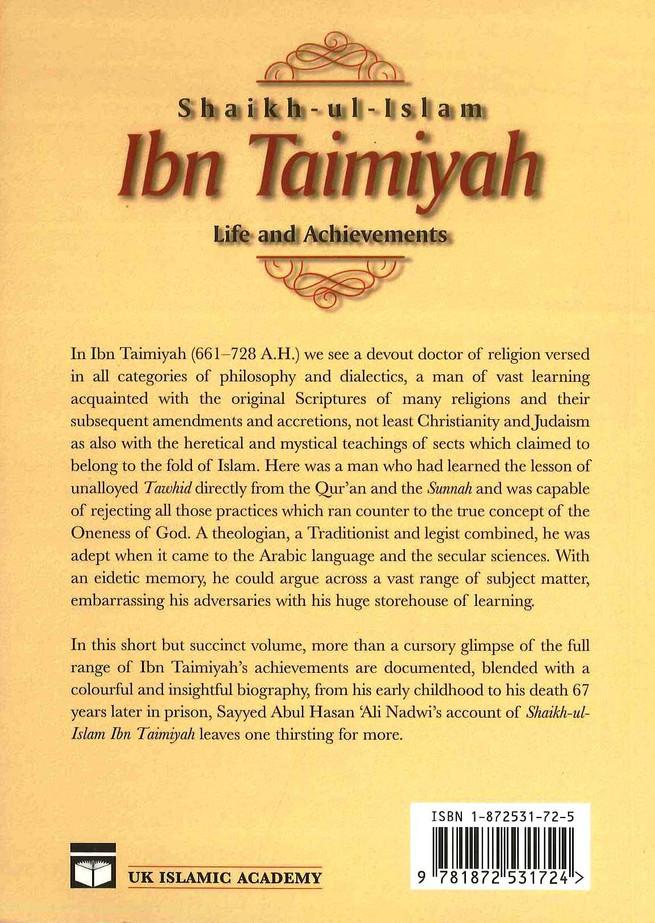Shaikh-ul-Islam Ibn Taimiyah Life and Achievements
