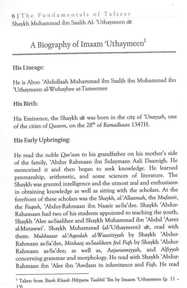 The Fundamentals of Tafseer & Tafseer of Soorahs: al-Faatihah, al-Ikhlaas, al-Falaq and an-Naas