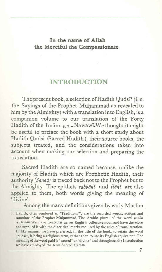 Forty Hadith Qudsi