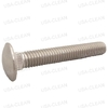 Screw 3/8-16 x 2 1/2 carriage head stainless steel 999-0894