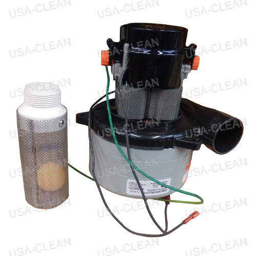 120V 3 stage vacuum motor with inlet tube and gasket 225-0388