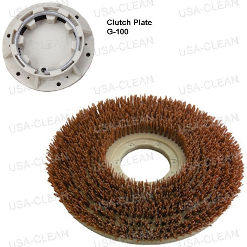 16 inch heavy grit stripping brush - 80 grit 996-0553