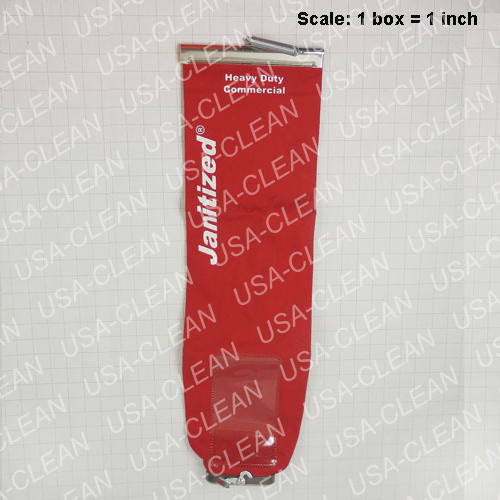 Cloth bag assembly with zipper (red) (sold individually) 272-5187