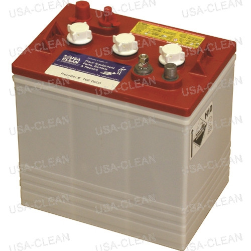 6V 225Ah wet battery (SNSR) 162-0003