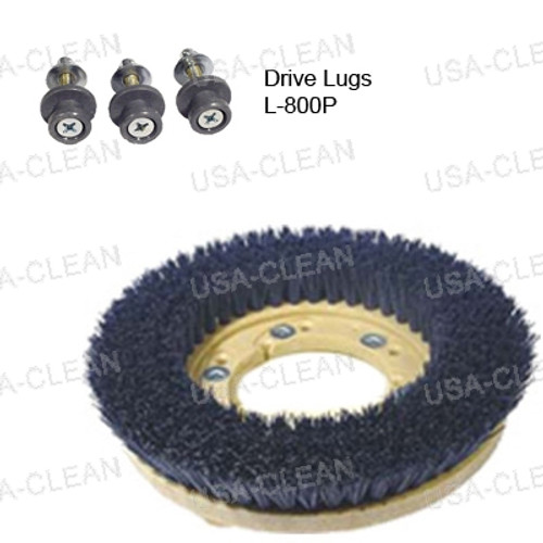 12 inch medium grit scrubbing brush - 180 grit 996-0024