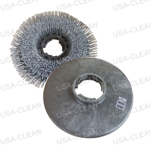 17 inch pro-grit abrasive brush (molded with clutch) (gray) 192-9425