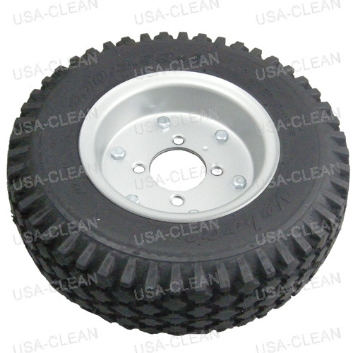 12 inch mounted foam filled knobby tire 179-2004