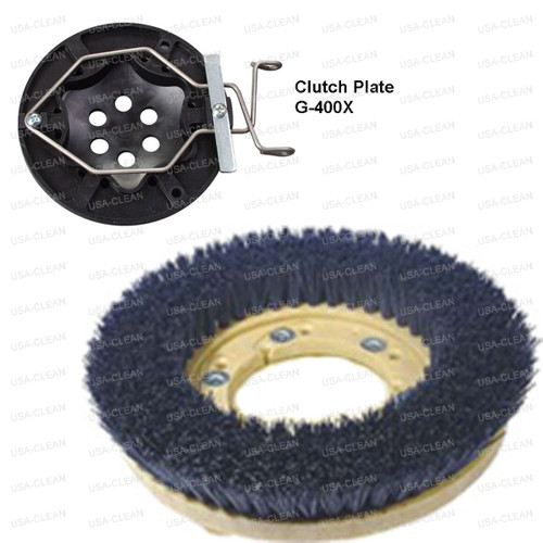 18 inch medium grit scrubbing brush - 180 grit 996-0117