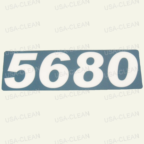 Numerals decal 175-2217