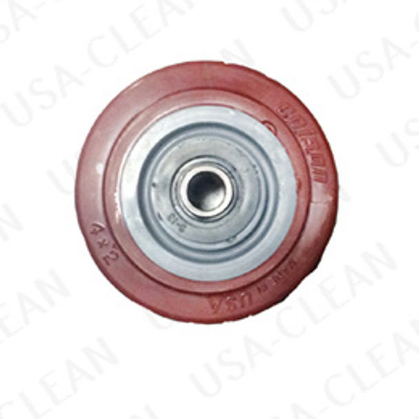 4 inch caster wheel with bearings (red) 991-2008