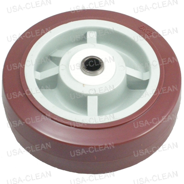 6 inch caster wheel (red) 991-2010