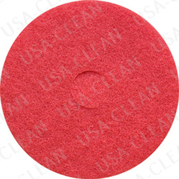 19 inch premium red auto scrub pad (pkg of 5) 255-1960