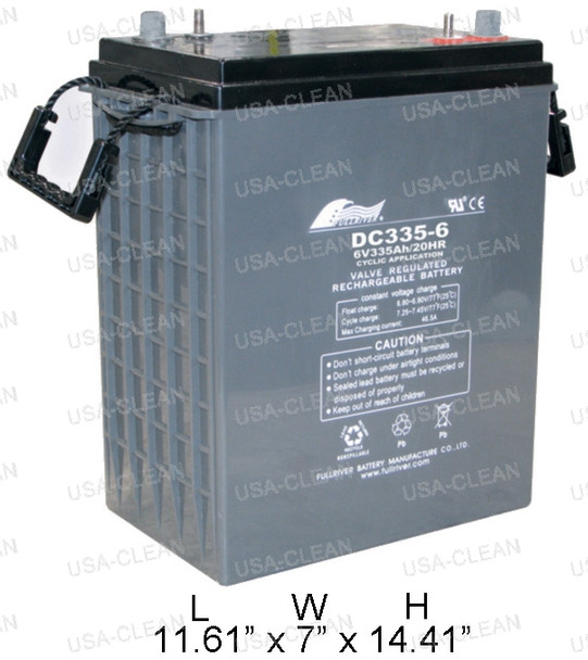 6V 335Ah AGM battery (Group J305) 162-0046