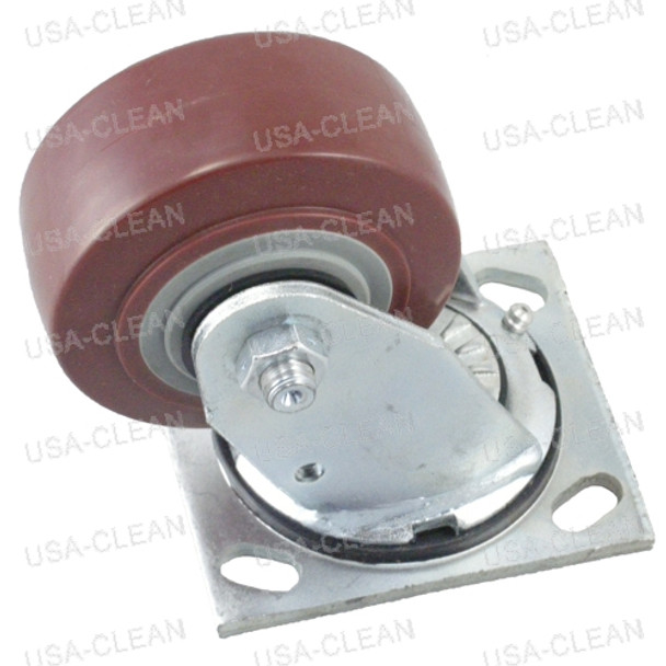 Caster wheel assembly (red) 991-2006
